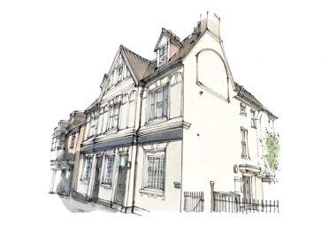 Artist illustration of South London Service