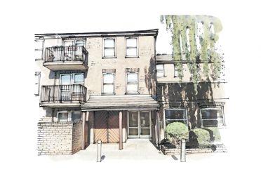 Artist illustration of Colin Winter House